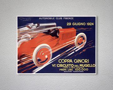 Automobile Club Milan Vintage Car Poster VAP021 Art Print A4 A3 A2 A1
