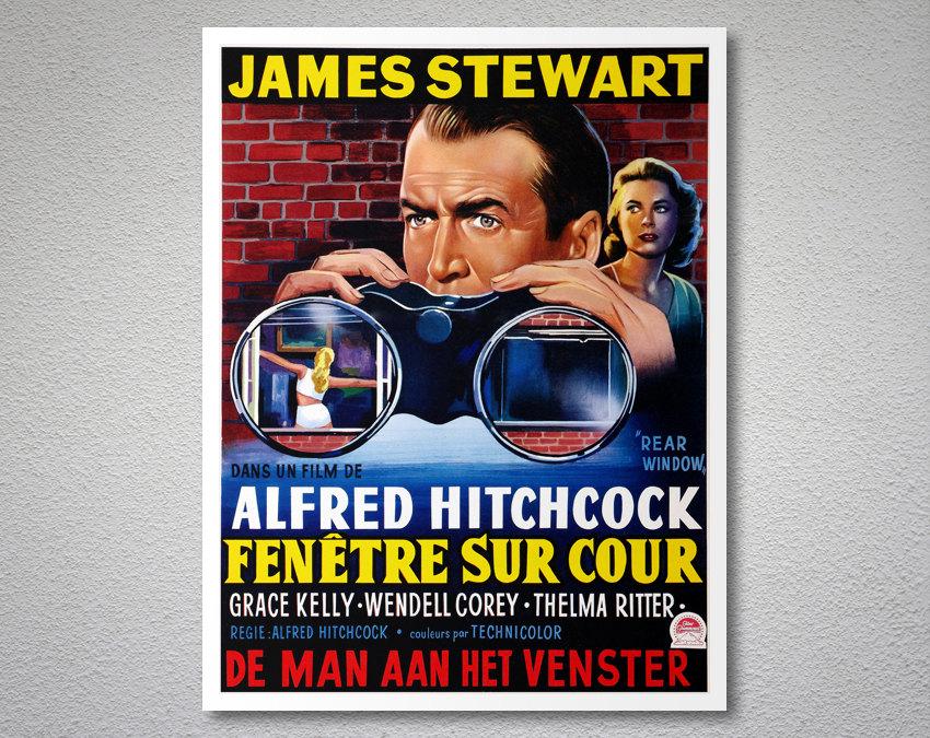 Fenetre sur cour rare window movie poster arty posters for Fenetre sur cour