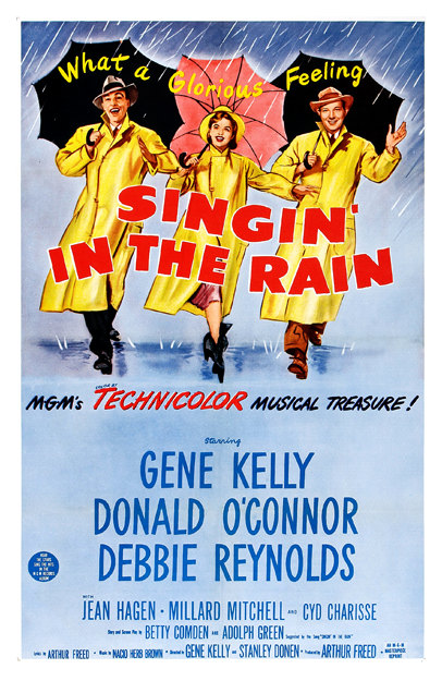 singing in the rain movie poster � arty posters