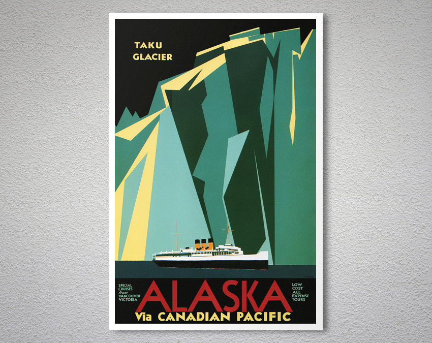 Taku Glacier Alaska via Canadian Pacific - Travel Poster