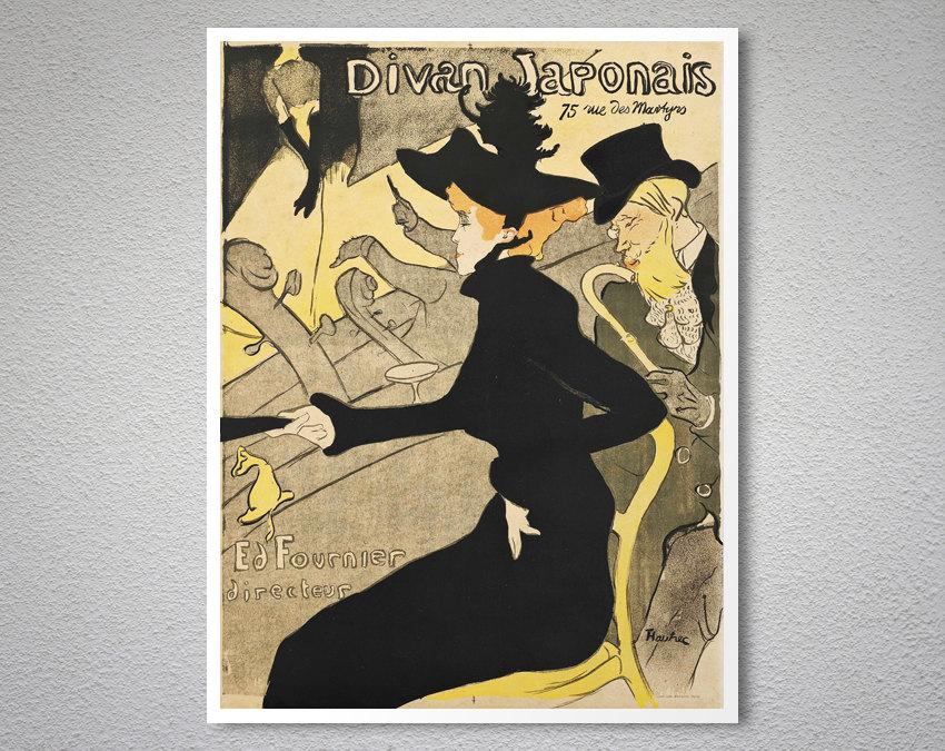 Divan japonais vintage entertainment poster arty posters for Divan vintage