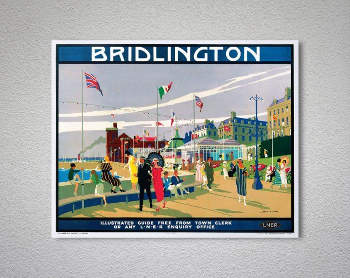 BRIDLINGTON BALCONY Vintage Railway Poster A1,A2,A3,A4 Sizes